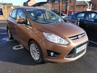 "USED 2013 63 FORD C-MAX 2.0 TITANIUM TDCI 5d AUTO 138 BHP AUTOMATIC DIESEL WITH ONLY 12492 MILES FROM NEW, CHEAP TO RUN, LOW CO2 EMISSIONS AND LOW ROAD TAX! GOOD SPECIFICATION INCLUDING 17"" ALLOY WHEELS, CLIMATE CONTROL AND 3 SERVICE STAMPS ALL OF OUR VEHICLES MEET LARGE CITY EMISSION STANDARDS!"