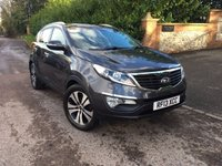 2013 KIA SPORTAGE 1.7 CRDI 3 5d 114 BHP PLEASE CALL TO VIEW £SOLD
