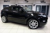 USED 2013 63 LAND ROVER RANGE ROVER EVOQUE 2.2 SD4 DYNAMIC 3d AUTO 190 BHP FINISHED IN STUNNING BAROLO BLACK WITH FULL LEATHER SEATS + FULL LAND ROVER SERVICE HISTORY + SATELLITE NAVIGATION + PANORAMIC ROOF + XENON HEADLIGHTS + 20 INCH ALLOYS + HEATED/ELECTRIC FRONT SEATS + BLUETOOTH + DAB RADIO + CRUISE CONTROL + PARKING SENSORS + CLIMATE CONTROL....