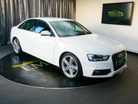 USED 2012 12 AUDI A4 3.0 TDI QUATTRO S LINE 4d AUTO 241 BHP £0 DEPOSIT FINANCE AVAILABLE, AIR CONDITIONING, AUX INPUT, BLUETOOTH CONNECTIVITY, CLIMATE CONTROL, CRUISE CONTROL, DAB RADIO, DAYTIME RUNNING LIGHTS, ELECTRONIC PARKING BRAKE, FULL LEATHER UPHOLSTERY, HEATED MIRRORS, PARKING SENSORS, SATELLITE NAVIGATION, START/STOP SYSTEM, STEERING WHEEL CONTROLS, TRIP COMPUTER, XENON HEADLIGHTS