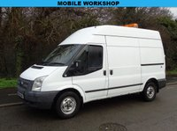 USED 2012 62 FORD TRANSIT 2.2TDCI T350 100BHP MWB HIGH ROOF MOBILE WORK SHOP/PANEL VAN UNDERFLOOR COMPRESSOR+