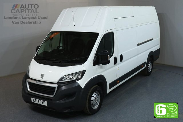 2017 17 PEUGEOT BOXER 2.0 BLUE HDI 435 L4H4 EXTRA LWB EXTRA HIGH ROOF 130 BHP EURO 6 MANUFACTURER WARRANTY UNTIL 23/07/2020