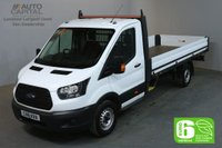 USED 2018 18 FORD TRANSIT 2.0 350 L4 129 BHP EXTRA LWB EURO 6 VAN DROPSIDE LORRY REAR BED LENGTH 13 FOOT & 10 IN