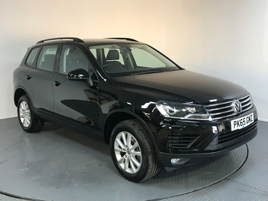 USED 2015 65 VOLKSWAGEN TOUAREG 3.0 V6 ESCAPE TDI BLUEMOTION TECHNOLOGY 5d AUTO 259 BHP SERVICE HISTORY - ONE OWNER - SAT NAV - FULL LEATHER - PARKING SENSORS - BLUETOOTH - AIR CON