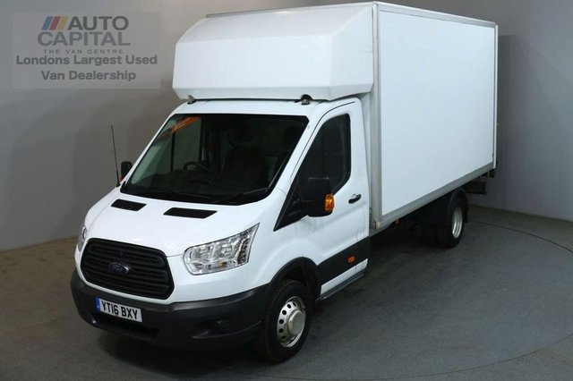 2016 16 FORD TRANSIT 2.2 350 124 BHP L4 EXTRA LWB TWIN WHEEL TAIL LIFT FITTED LUTON REAR BED LENGTH 13 FOOT & 7 IN