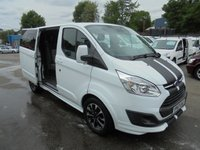 USED 2017 67 FORD TRANSIT CUSTOM  SPORT  2.0  TURBO DIESEL SIX SPEED  170 BRAKE HORSE POWER FACTORY CREW VAN FIVE SEATS  LEATHER /CLOTH TRIM,, DIAMOND CUT ALLOYS   9,400 MILES TWIN SIDE DOORS   OCTOBER 2020 FORD WARRANTY  SPORT CUSTOM 5 SEAT DOUBLE CAB 170 bhp TDCI DIESEL  TWIN SIDE DOORS