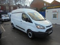 2014 FORD TRANSIT CUSTOM 2.2 290 LWB HI TOP  125 BHP FITTED WITH REAR SHELVES WATER HEATER TAPS NEON LIGHTS ONE LEASE COMPANY ONWER  FULL PRINT OUT HISTORY SPARE KEY  £7995.00