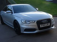 USED 2012 03 AUDI A6 2.0 TDI S LINE 4d AUTO 175 BHP NAVIGATION SYSTEM +   LEATHER TRIM +  BLUETOOTH +   PARKING AID +  20 INCH ALLOYS +