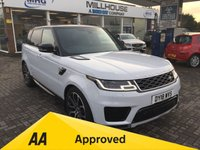 USED 2018 18 LAND ROVER RANGE ROVER SPORT 3.0 SDV6 HSE 5d AUTO 306 BHP VAT QUALIFYING In Metallic Yulong White Fixed Panoramic Roof with Contrast Glass Ebony Premium Headlining Heated Steering Wheel 21