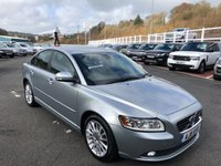 USED 2011 11 VOLVO S40 1.6 DRIVE SE LUX EDITION S/S 4d 113 BHP Black full leather, Sat Nav, Bluetooth telephone, heated seats ++
