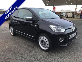 2013 VOLKSWAGEN UP 1.0 UP BLACK 3d 74 BHP £4995.00