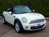 USED 2013 13 MINI CONVERTIBLE 1.6 COOPER 2d 122 BHP