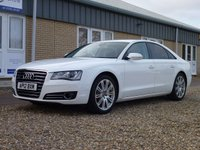 USED 2012 12 AUDI A8 3.0 TDI QUATTRO SE EXECUTIVE 4d AUTO 247 BHP www.suffolkcarcentre.co.uk - Located at Reydon