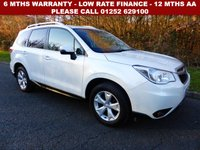 USED 2013 63 SUBARU FORESTER 2.0 D XC PREMIUM 5d 145 BHP All retail cars sold are fully prepared and include - Oil & filter service, 6 months warranty, minimum 6 months Mot, 12 months AA breakdown cover, HPI vehicle check assuring you that your new vehicle will have no registered accident claims reported, or any outstanding finance, Government VOSA Mot mileage check.     Because we are an AA approved dealer, all our vehicles come with free AA breakdown cover and a free AA history check. Low rate finance available. Up to 3 years warranty available.