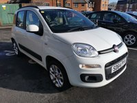 USED 2014 64 FIAT PANDA 1.2 LOUNGE 5d 69 BHP CHEAP TO RUN, EXCELLENT FUEL ECONOMY, LOW CO2 EMISSIONS, AND £30 ROAD TAX. GREAT SPECIFICATION INCLUDING RADIO/CD, AIR CON AND SIX SPEAKERS.ONLY 2277 MILES!