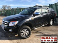 USED 2014 14 FORD RANGER 2.2 XLT 4X4 DCB TDCI 1d 148 BHP REAR CANOPY ONE OWNER AIR CON ALLOYS (COMMERCIAL £12900 + 2580 VAT). REAR CANOPY. STUNNING BLACK MET WITH BLACK CLOTH TRIM. CRUISE CONTROL. SIDE STEPS. AIR CON. 16 INCH ALLOYS. COLOUR CODED TRIMS. BLUETOOTH PREP. PAS. R/CD PLAYER. MOT 02/20. ONE OWNER FROM NEW. SERVICE HISTORY. PICK-UP & VAN CENTRE- LS23 7FQ. TEL 01937 849492 OPTION 3
