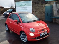 USED 2015 65 FIAT 500 1.2 C LOUNGE 3d 69 BHP One Owner With SAT NAV