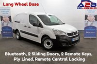 USED 2016 16 PEUGEOT PARTNER 1.6 HDI, Long Wheel Base, Bluetooth, Ply Lined, 2 Remote Keys, 2 Sliding Doors **Drive Away Today** Over The Phone Low Rate Finance Available, Just Call us on 01709 866668**