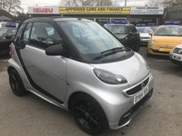 USED 2014 64 SMART FORTWO CABRIO 1.0 GRANDSTYLE EDITION MHD 2d AUTO 71 BHP CABRIO IN SILVER WITH ONLY 12800 MILES APPROVED CARS ARE PLEASED TO OFFER THIS SMART FORTWO CABRIO 1.0 GRANDSTYLE EDITION MHD 2d AUTO 71 BHP CABRIO IN SILVER WITH A SUPER LOW MILEAGE ONLY 12800 MILES WITH A GREAT SPEC INCLUDING SAT NAV,ALLOYS,FULL LEATHER INTERIOR AND MUCH MORE WITH A FULL SERVICE HISTORY WITH 4 SERVICE STAMPS A GREAT LITTLE CAR IN AUTOMATIC.