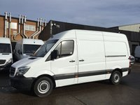 USED 2015 15 MERCEDES-BENZ SPRINTER 2.1 313CDI MWB HIGH ROOF 130BHP. ONLY 76K FSH. FINANCE. 1 OWNER. LOW 76,481 MILES. F/S/H. FINANCE. PX