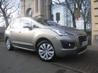 USED 2014 14 PEUGEOT 3008 1.6 HDI ACTIVE 5d 115 BHP *** FINANCE & PART EXCHANGE WELCOME *** BLUETOOTH PHONE AIR/CON CRUISE CONTROL PARKING SENSORS AUTOMATIC HEADLIGHTS TRACTION CONTROL