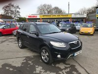 USED 2012 12 HYUNDAI SANTA FE 2.2 PREMIUM CRDI 5 DOOR AUTO 194 BHP IN BLACK WITH 54000 MILES WITH SAT NAV,7 SEATS IN IMMACULATE CONDITION. APPROVED CARS ARE PLEASED TO OFFER THIS HYUNDAI SANTA FE 2.2 PREMIUM CRDI 5 DOOR AUTO 194 BHP IN BLACK WITH 54000 MILES IN GREAT CONDITION WITH A HUGH SPEC INCLUDING SAT NAV,FULL LEATHER INTERIOR,ALLOYS,7 SEATS AND MUCH MORE WITH A FULL SERVICE HISTORY 2 MAIN DEALER STAMPS AND 1 INDEPENDENT A GREAT 7 SEATER SUV IN GOOD ORDER.