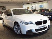 USED 2013 13 BMW 5 SERIES 2.0 520D M SPORT 4d AUTO 181 BHP M PERFORMANCE STYLING+SAT NAV
