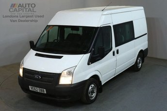 2012 FORD TRANSIT 2.2 280 124 BHP MWB M/ROOF FWD 6 SEATER COMBI CREW VAN £5490.00