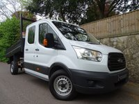 2016 FORD TRANSIT 2.2 350 L3 DCB C/C DRW 1d 124 BHP DOUBLE CAB 1 WAY TIPPER LWB £12990.00
