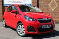 USED 2016 16 PEUGEOT 108 1.0 ACTIVE 3d 68 BHP ONE OWNER * NIL ROAD TAX