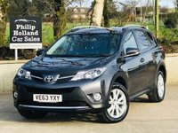 USED 2014 63 TOYOTA RAV4 2.2 D-4D INVINCIBLE 5d 150 BHP AWD Full leather, Sat Nav, Heated seats, Power tailgate, Cruise control