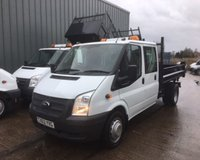 USED 2012 62 FORD TRANSIT T350 2.2 TDCI DOUBLE CAB THREE WAY TIPPER