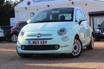 2015 FIAT 500 1.2 LOUNGE 3d 69 BHP £6750.00
