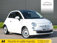 USED 2012 62 FIAT 500 1.2 LOUNGE 3d 69 BHP £30 TAX, AIR CON, BLUETOOTH