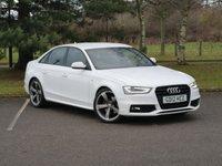 2012 AUDI A4 3.0 TDI S LINE BLACK EDITION 4d AUTO 201 BHP £12480.00