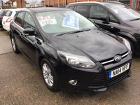 USED 2014 14 FORD FOCUS 1.6 TITANIUM NAVIGATOR TDCI 5d 113 BHP Top of the range, £20 road tax, sat/nav, superb.