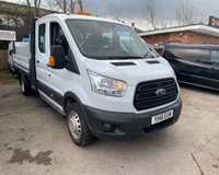 USED 2016 16 FORD TRANSIT 2.2 350 L4 DCB C/C DRW 1d 123 BHP 7 SEAT DROPSIDER WITH TAIL LIFT