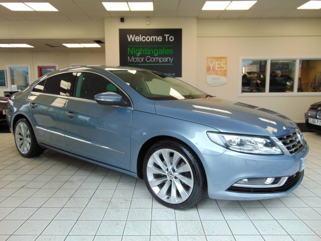 USED 2013 63 VOLKSWAGEN CC 2.0 GT TDI BLUEMOTION TECHNOLOGY 4d 175 BHP FULL SERVICE HISTORY + SAT NAVIGATION + BLUETOOTH + CRUISE CONTROL + CLIMATE CONTROL + DAB RADIO + ELECTRIC WINDOWS + ALLOYS +SEPT 2019 MOT