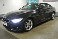 USED 2015 65 BMW 4 SERIES 2.0 420D M SPORT 2d 188 BHP 45K MILES SERVICE HISTORY, 1 OWNER PRO MEDIA, HOT LEATHER, 2 KEYS