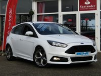 "USED 2016 16 FORD FOCUS 2.0 ST-1 TDCI 5d 183 BHP STUNNING, 1 OWNER, £20 ROAD TAX, FORD FOCUS 2.0 TDCI ST-1 183 BHP. Finished in FROZEN WHITE with contrasting sports RECARO grey trim. GREAT Looking performance car with outstanding economy. With 67.3 average MPG, £20 road tax and a thumping 183 BHP what more could you want. Other features include, DAB, B/Tooth, 18"" Alloys, Rear Park sensors and much more."