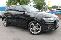 USED 2013 62 AUDI Q3 2.0 TDI QUATTRO S LINE 5d AUTO 175 BHP FULL AUDI HISTORY - SAT NAV- BLUETOOTH - 19'' ALLOY WHEELS - HALF LEATHER - AUTOMATIC - MUST SEE