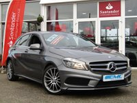 USED 2015 65 MERCEDES-BENZ A CLASS 2.1 A200 CDI AMG SPORT 5d AUTO 136 BHP STUNNING, £20 TAX, 1 OWNER, MERCEDES A CLASS, 2.1 CDI, AMG SPORT, AUTO, 136 BHP. Finished in MOUNTAIN GREY MET with contrasting black LEATHER/ALCANTARA SPORTS trim. This A class certainly looks smart, with its slim lights and smooth body panels. There's plenty of room in the front and the back which will suit the average family. Features include Sat Nav, Alloys, Leather, B/Tooth and much more.