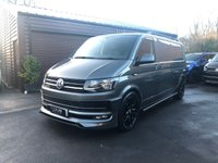 USED 2016 16 VOLKSWAGEN TRANSPORTER VW T6 2016 Transporter Highline LWB 140ps 6 speed manual Custom tailgate panel van Finance arranged and available with low deposit and HP plans up to 10 years