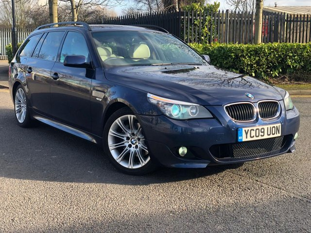2009 09 BMW 5 SERIES 2.0 520D M SPORT BUSINESS EDITION TOURING 5d AUTO 175 BHP