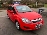 USED 2014 64 VAUXHALL ZAFIRA 1.8 EXCLUSIV 5d 120 BHP Buy with confidence from a garage that has been established  for more than 25 years.