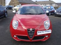 USED 2013 63 ALFA ROMEO MITO 0.9 TWINAIR SPORTIVA 3d 105 BHP ONE OWNER FREE ANNUAL ROAD TAX