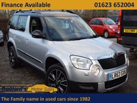USED 2013 63 SKODA YETI 2.0 ADVENTURE TDI CR 5d 109 BHP