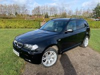 USED 2006 06 BMW X3 3.0 D M SPORT 5d AUTO 215 BHP Sat Nav Bluetooth FSH  Full BMW And Specialist Service History, MOT 02/20, Recent Service, Sat Nav, Bluetooth, Front And Rear Parking Sensors, Unmarked 18in M Sport Alloys, Full Black Leather Upholstery, Auto Lights On, Auto Wipers, Dimming Mirrors, Power Fold Mirrors, X2 Keys, Very Very Clean And Tidy Example, Climate Aircon, X4 Elec Windows, Full. Adept Mat Set, Black Stitched Leather Steering Wheel, Fully Colour Coded MSport Bodystyling, Drives And Looks Superbly, You Will Not Be Dissapointed!!
