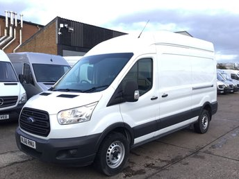 2016 FORD TRANSIT 2.2TDCI T350 LWB HIGH ROOF L3 H3 125BHP. WARRANTY. EU6. £10790.00