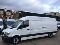 USED 2016 16 MERCEDES-BENZ SPRINTER 2.1 313CDI LWB HIGH ROOF 130BHP. MERCEDES WARRANTY. FINANCE MERCEDES WARRANTY 13.4.2019. FINANCE. SUPERB CONDITION. PX